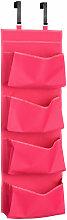 Over Door Hot Pink 4 Tier Hanging Organiser -