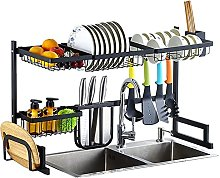 Over Sink Dish Drainer, Practical Stainless Steel