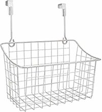 Over The Cabinet Door Storage Basket Metal Wire