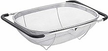 Over The Sink Colander Stainless Steel Oval
