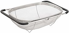 Over The Sink Colander, Stainless Steel Oval