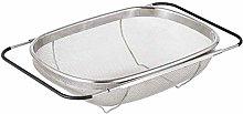 Over The Sink Colander Strainer Basket Stainless
