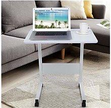Overbed Bedside Desk Mobile Rolling Laptop Stand