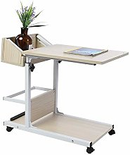 Overbed Table, Laptop Desk with Storage Drawer,