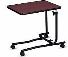 Overbed Table, Portable Desk With Castor Wheels,
