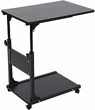 Overbed Table U-Shaped Side Table Mobile Sturdy