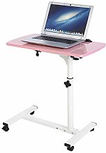 Overbed Table with Castors, Adjustable Height and
