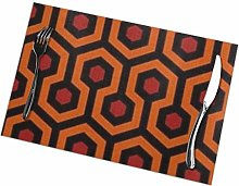 Overlook Hotel Carpet Washable Placemats For
