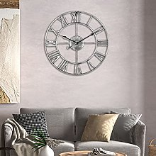 Oversize Farmhouse Metal Wall Clocks Rustic Round