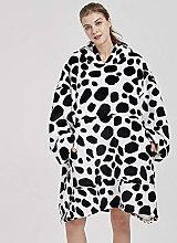 Oversized Hoodie Blanket Sweatshirt,Cozy Flannel