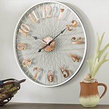 OversizedMetal 68cm Wall Clock Borough Wharf