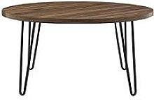 Owen Round Coffee Table - Walnut Effect