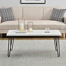 Owen Wooden Retro Coffee Table In White