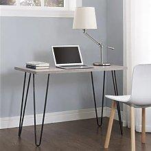 Owen Wooden Retro Laptop Desk In Weathered Oak