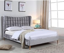 Owens Crushed Velvet Upholstered Bed Frame Rosdorf