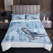 Owl Bedspread Boys Girls 3D Animal Printed Quilted