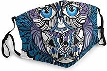 Owl Bird Bohemian Mural Bandana Face Mask Neck