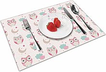 Owl Bird Insulation Heat Resistant Table Mats Easy