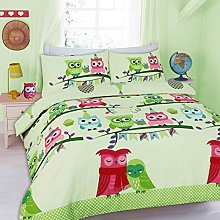 Owl Duvet Cover Sets Kids Children Toddler Quilt