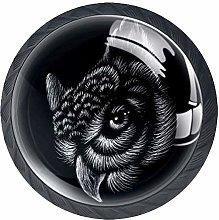 Owl for Tattoo Decorative Cabinet Wardrobe