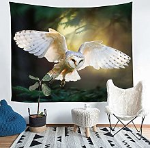 Owl Tapestry Wall Hanging Boho Owl Tapestry for