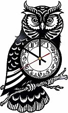 Owl Vinyl Wall Clock Retro Vinyl Record Wall Clock