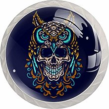 Owl with Skull Dresser Round Knobs(4PCS) -