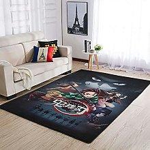 OwlOwlfan Kimetsu no Yaiba Floor Rugs Soft
