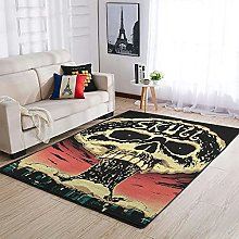 OwlOwlfan Skull Carpets Large Durable Area Rugs