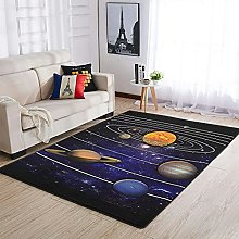 OwlOwlfan Solar System Area Rug Large Anti-slip
