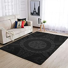 OwlOwlfan Viking Area Rug Modern Anti-slip Carpets