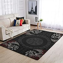 OwlOwlfan Viking Dragon Floor Rugs Modern Durable