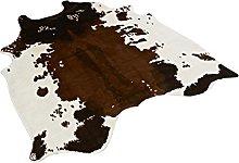 ownssilk Cow Print Rug 4.1x4.2 Feet faux Cow hide