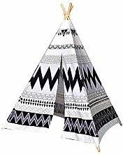 Owxjk Gray Stripe Teepee Tent for Kids Children