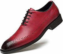 Oxford Genuine Leather Dress Men Shoes Lace Up
