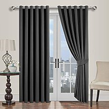 Oxford Homeware Blackout Curtains Bedroom Eyelet