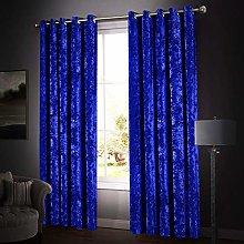 Oxford Homeware Crushed Velvet Curtains for