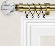 Oxford Homeware Curtain Pole Extendable (Antique