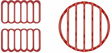 OXO Good Grips Silicone Roasting Rack, Red, Pack