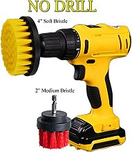 OxoxO 2in+4in Drill Powered Cleaning Scrub Brush