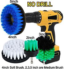 OxoxO 2inch 3inch 4inch 5inch Drill Brush - Soft