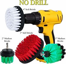 OxoxO 2pcs Drill Brush Medium Stiff Bristle Scrub