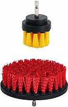 OxoxO 2pcs Drill Brush Medium Stiff Bristle Scrub