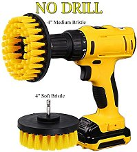 OxoxO 4in+5in Drill Brush - Soft Medium Power
