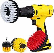 OxoxO 4pcs Drill Powered Cleaning Scrub Brush
