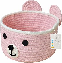 OYHOMO Cotton Rope Basket 7.9 x 4.7 Inches Small