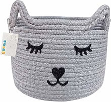 OYHOMO Cotton Rope Basket Baby Nursery Small