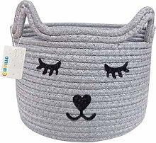 OYHOMO Cotton Rope Basket Baby Nursery Small