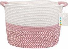 OYHOMO Cotton Rope Storage Basket Collapsible Toys