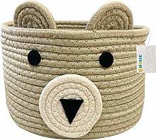 OYHOMO Cotton Rope Storage Basket Nursery Cute